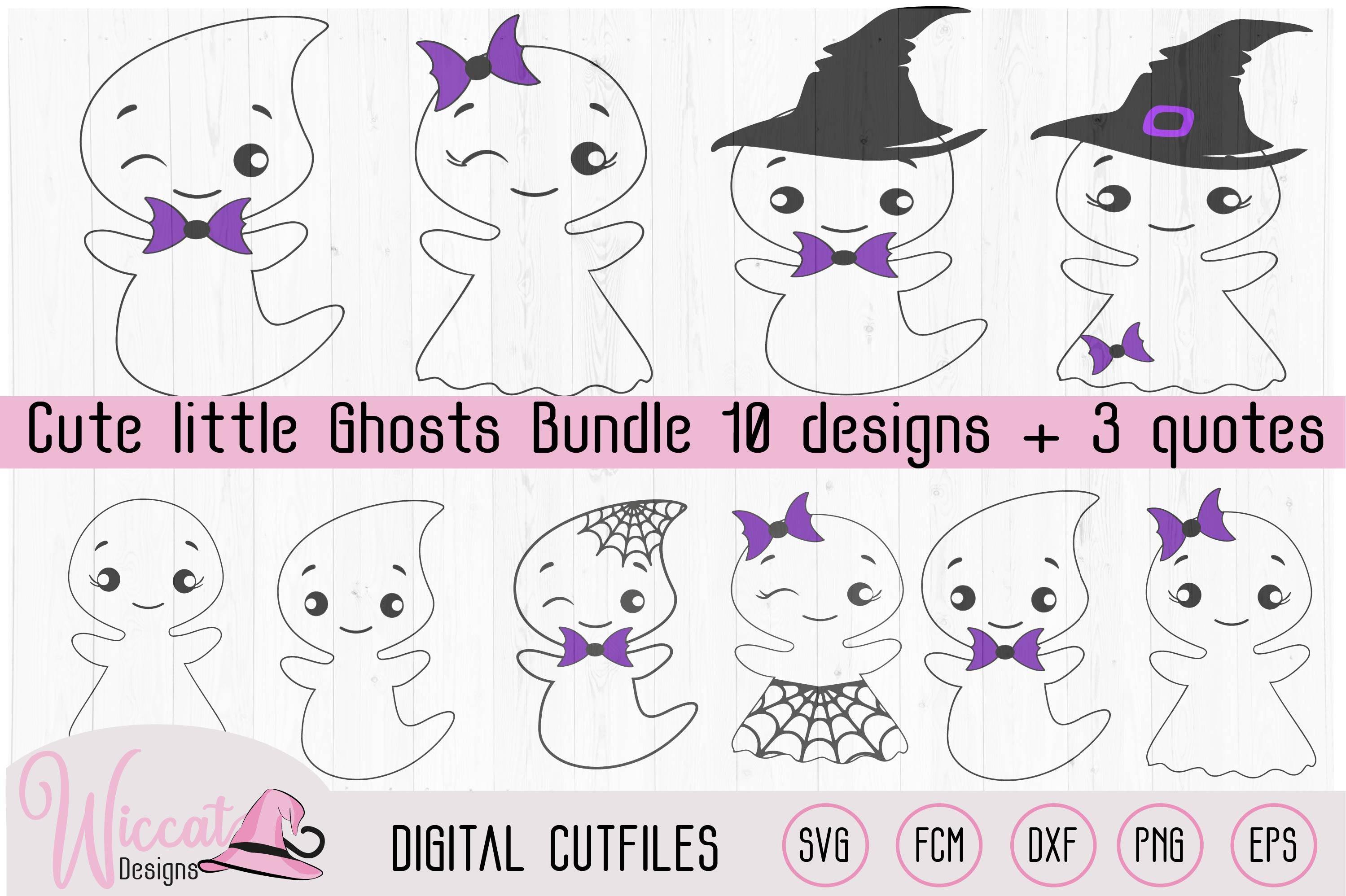 Cute little ghost bundle, scanncut, cricut, vinyl craft example image 3