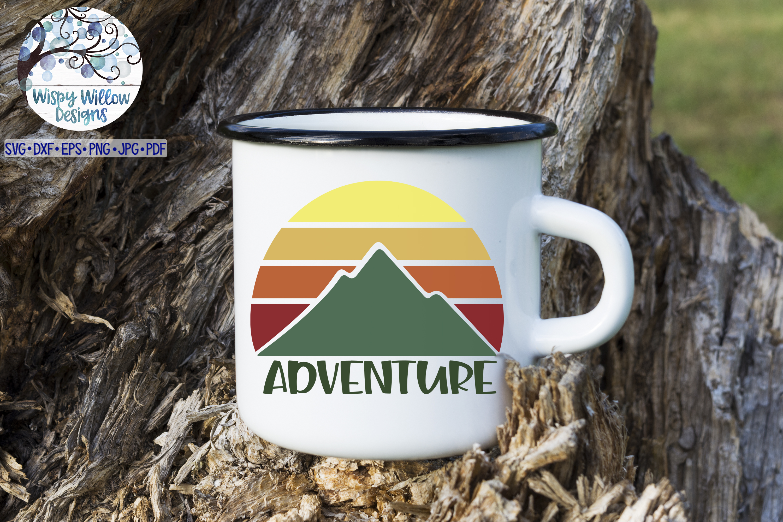 Adventure SVG | Mountain Sunrise SVG Cut File example image 2