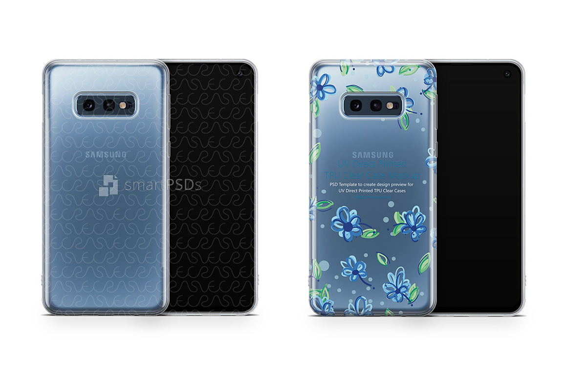 Samsung Galaxy S10 E UV TPU Clear Case Mockup 2019 example image 1