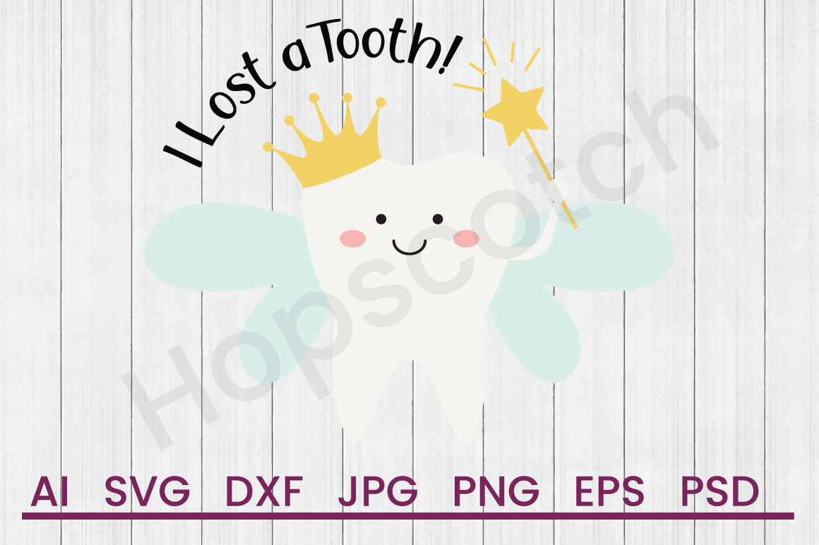 Tooth Fairy SVG, Lost Tooth SVG, DXF File, Cuttatable File example image 1