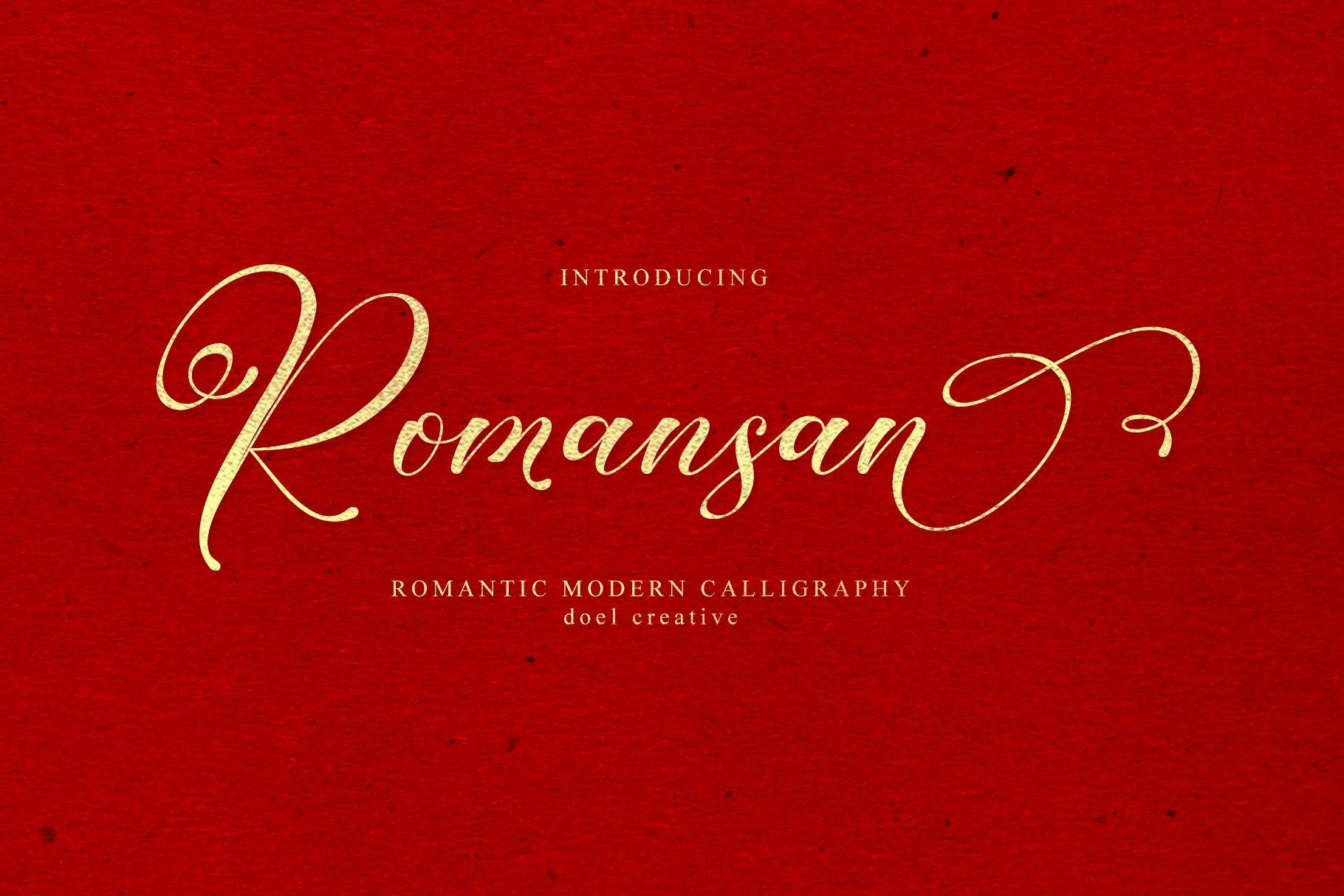 Romansan | Romantic Calligraphy example image 19