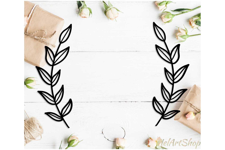 Wreath monogram svg, Laurel wreath svg cut file example image 1