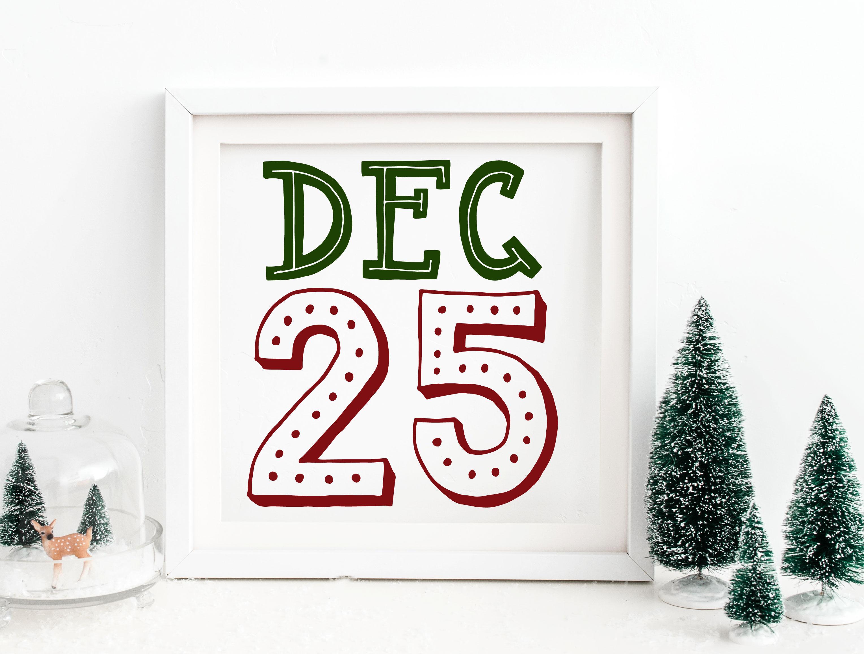 Dec 25 - Christmas SVG example image 1