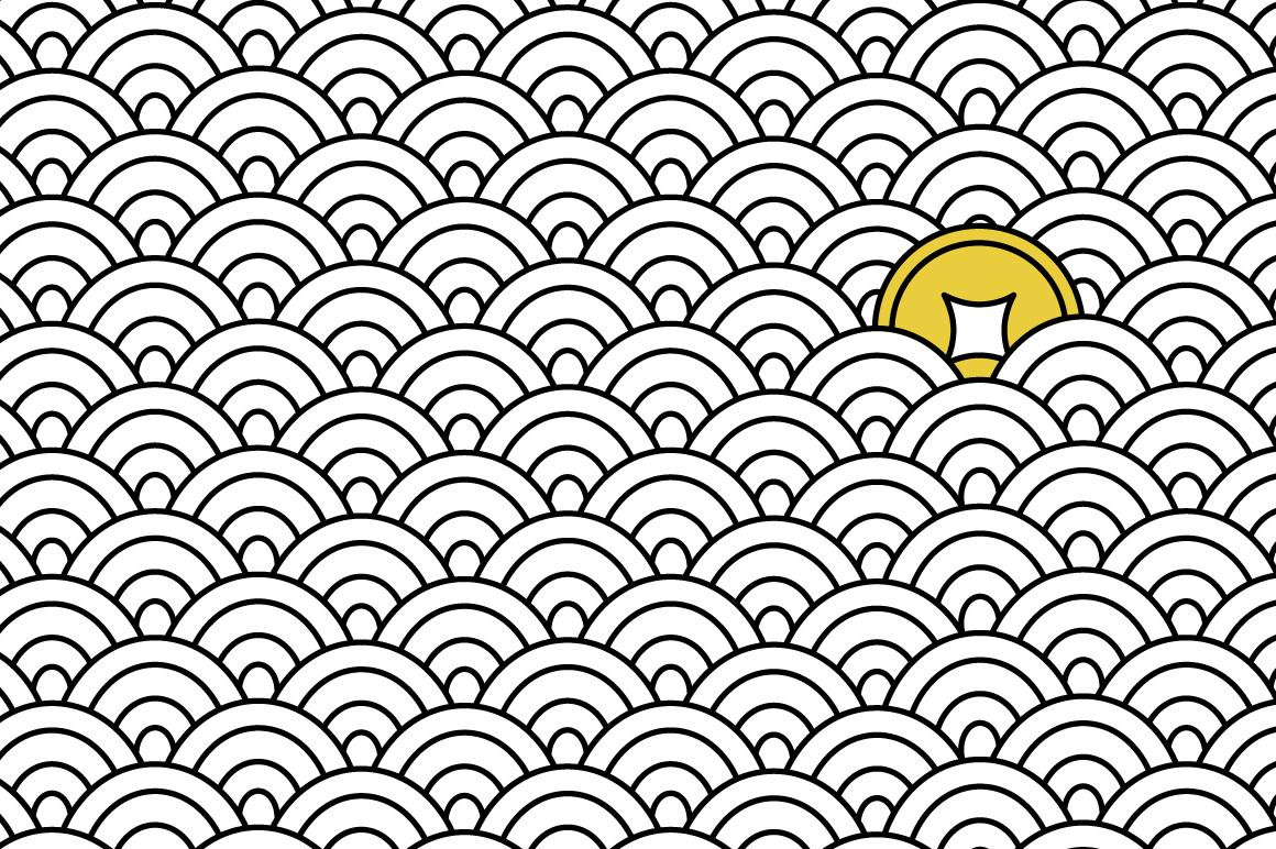 Japanese motif patterns example image 7