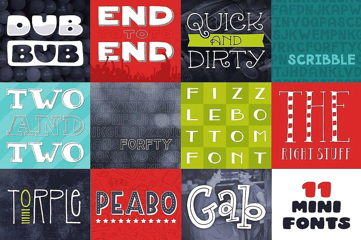 Mega Font Pack - 70 off! example image 12
