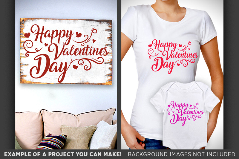 Happy Valentines Day Sign SVG - Valentines Day SVG - 1509 example image 3