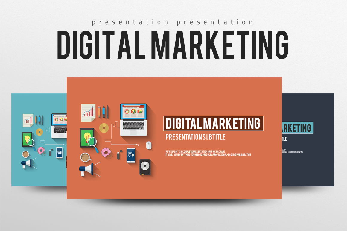 digital marketing ppt template