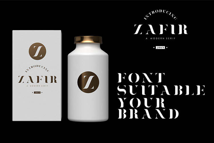 Zafir - Serif Font example image 3