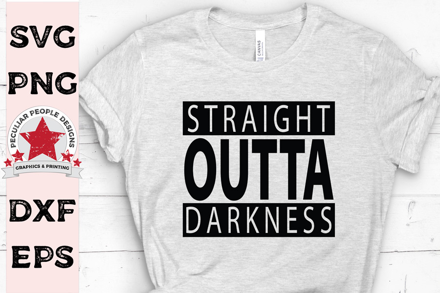 Straight Outta Darkness, SVG cutting file, OG Christian example image 2