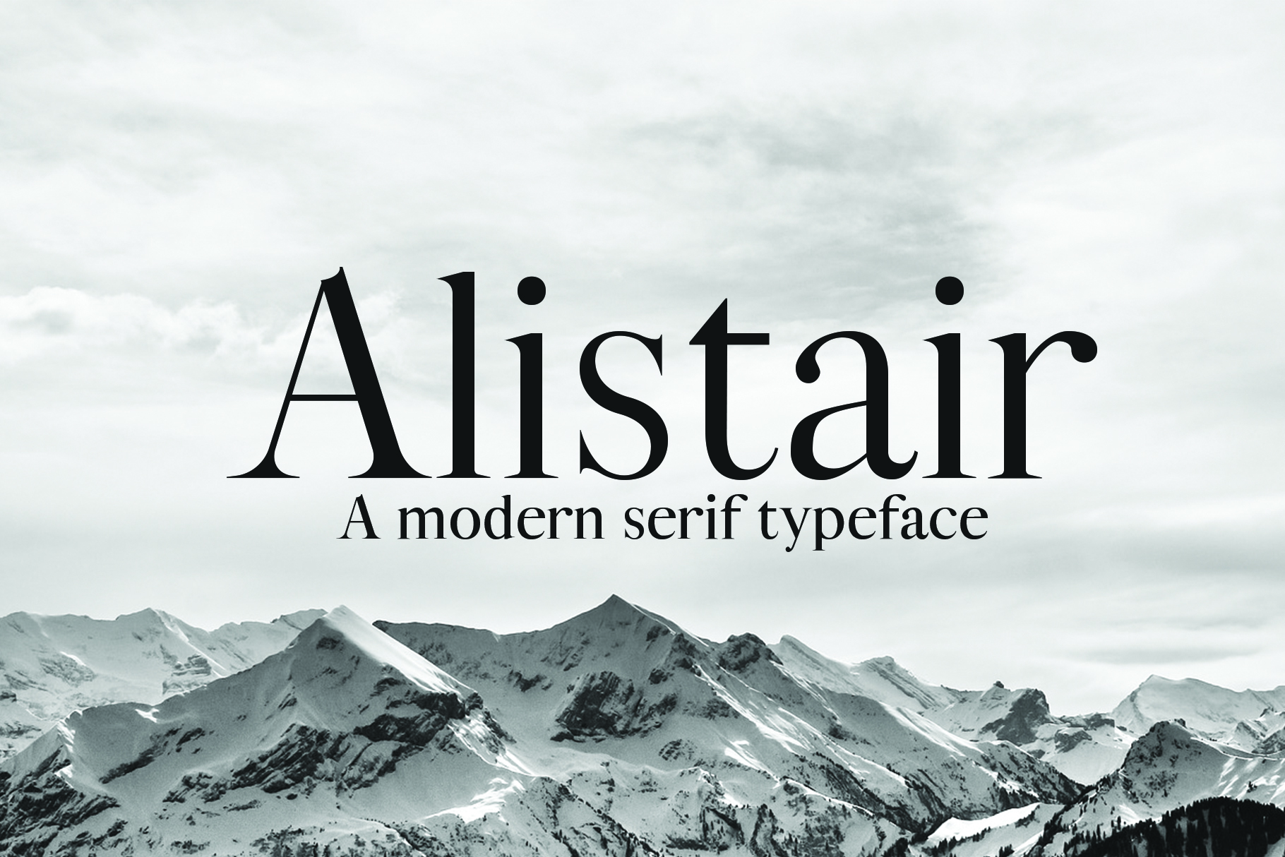 ALISTAIR FONT, A modern Serif example image 1