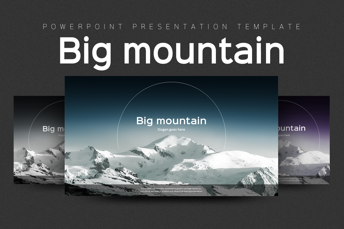 Mountain Powerpoint Template example image 1