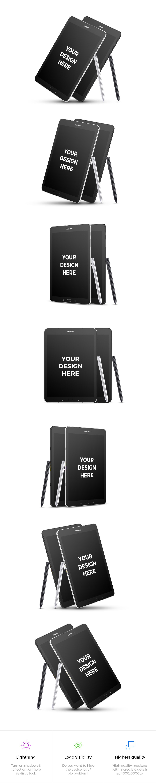 14x Samsung Galaxy Tab S3 Mockups example image 2