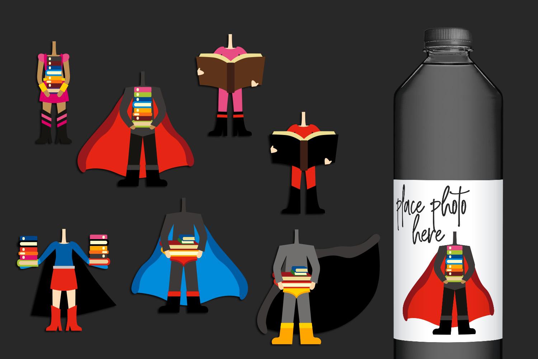 Illustrations Huge Bundle - Superhero Clip Art Graphics example image 21
