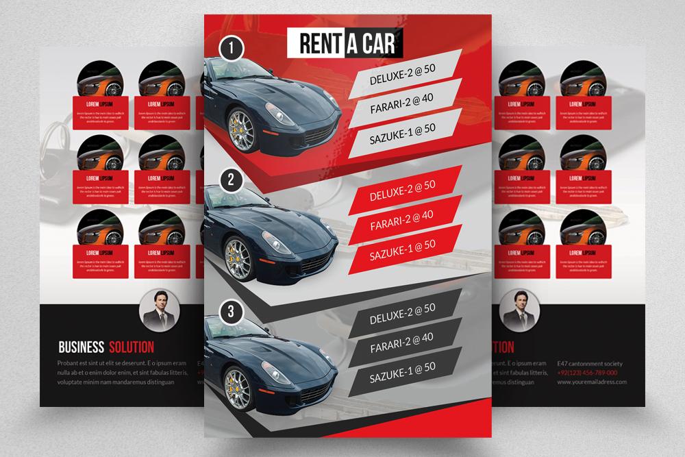 6 Rent A Car Flyers Bundle example image 3