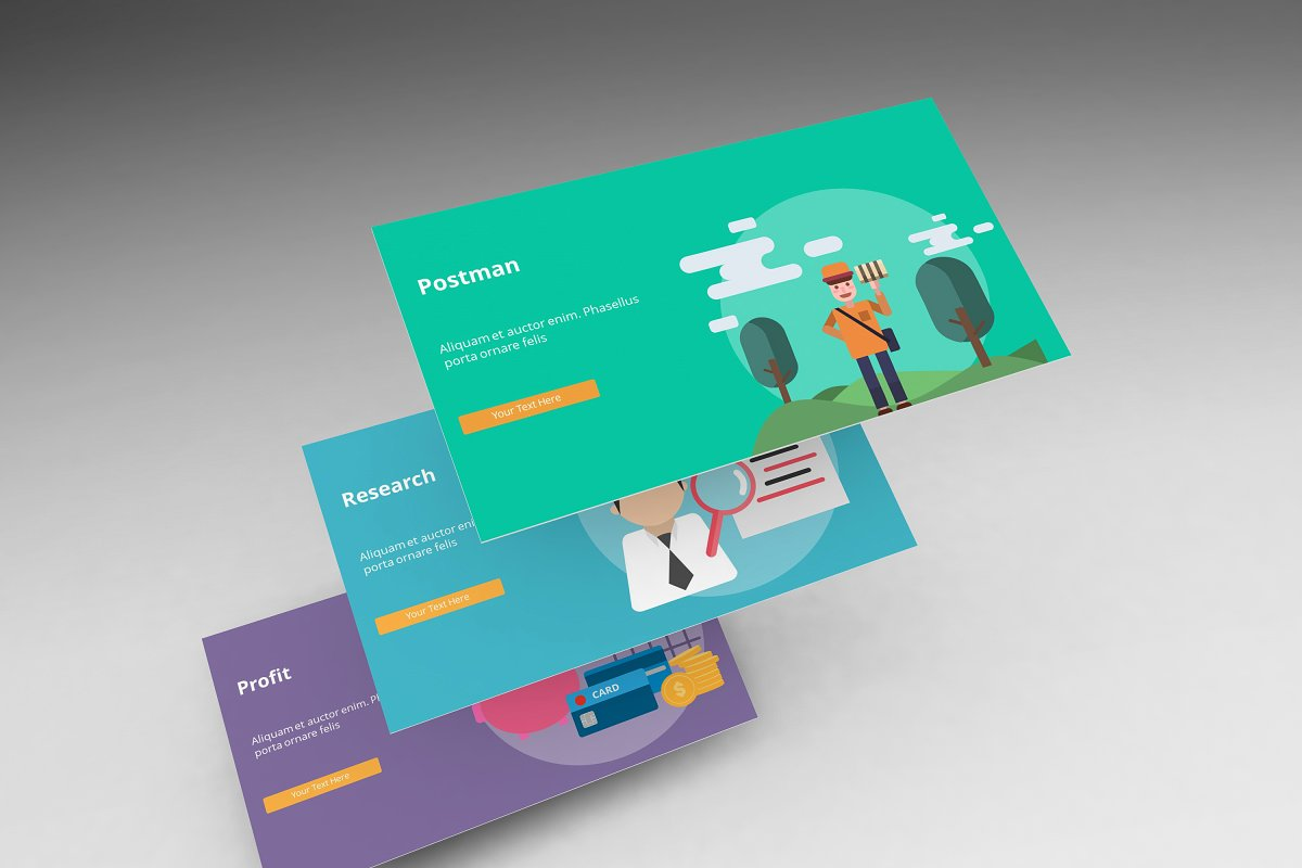 Visual Business Keynote Template example image 4