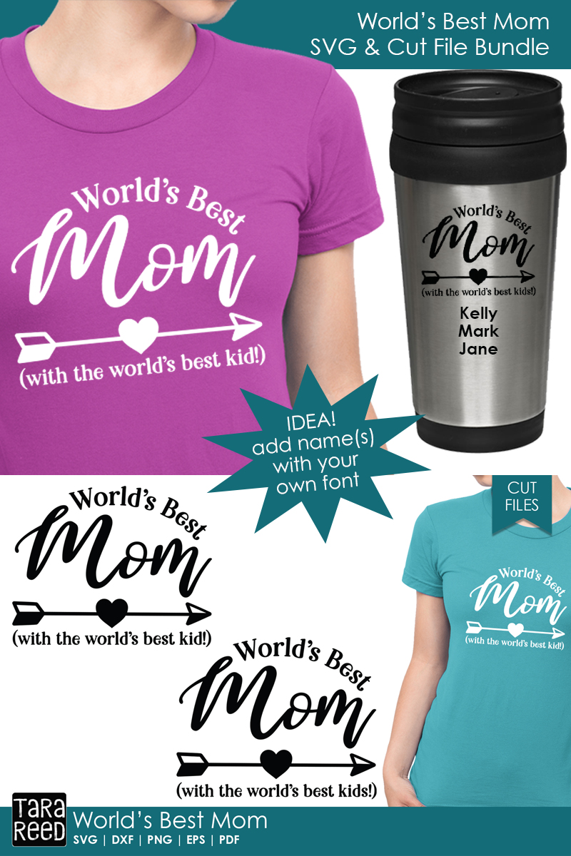 Worlds Best Mom - Family SVG and Cut Files for Crafters example image 3