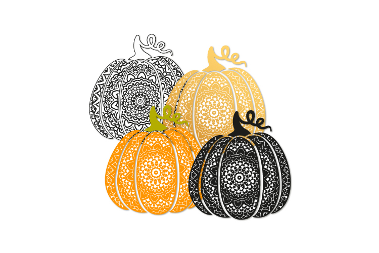Fancy pumpkin svg. Scroll pumpkin example image 2