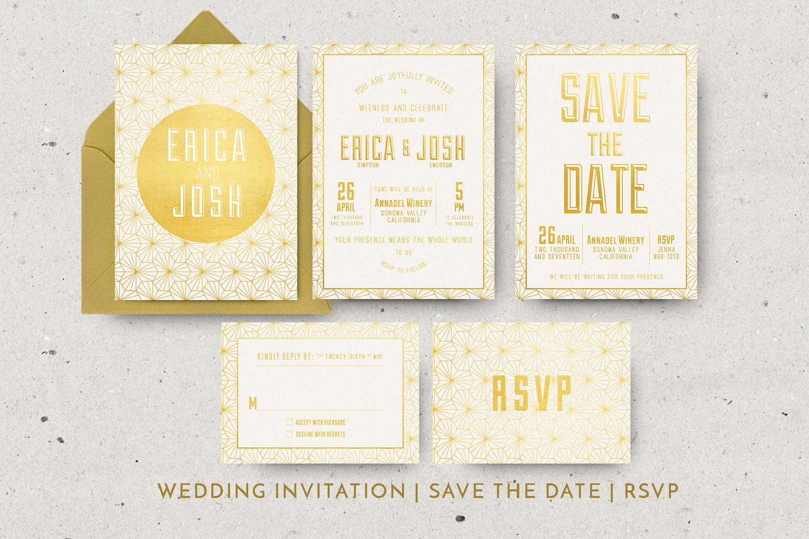 Elegant Geometric Wedding Invitation example image 6