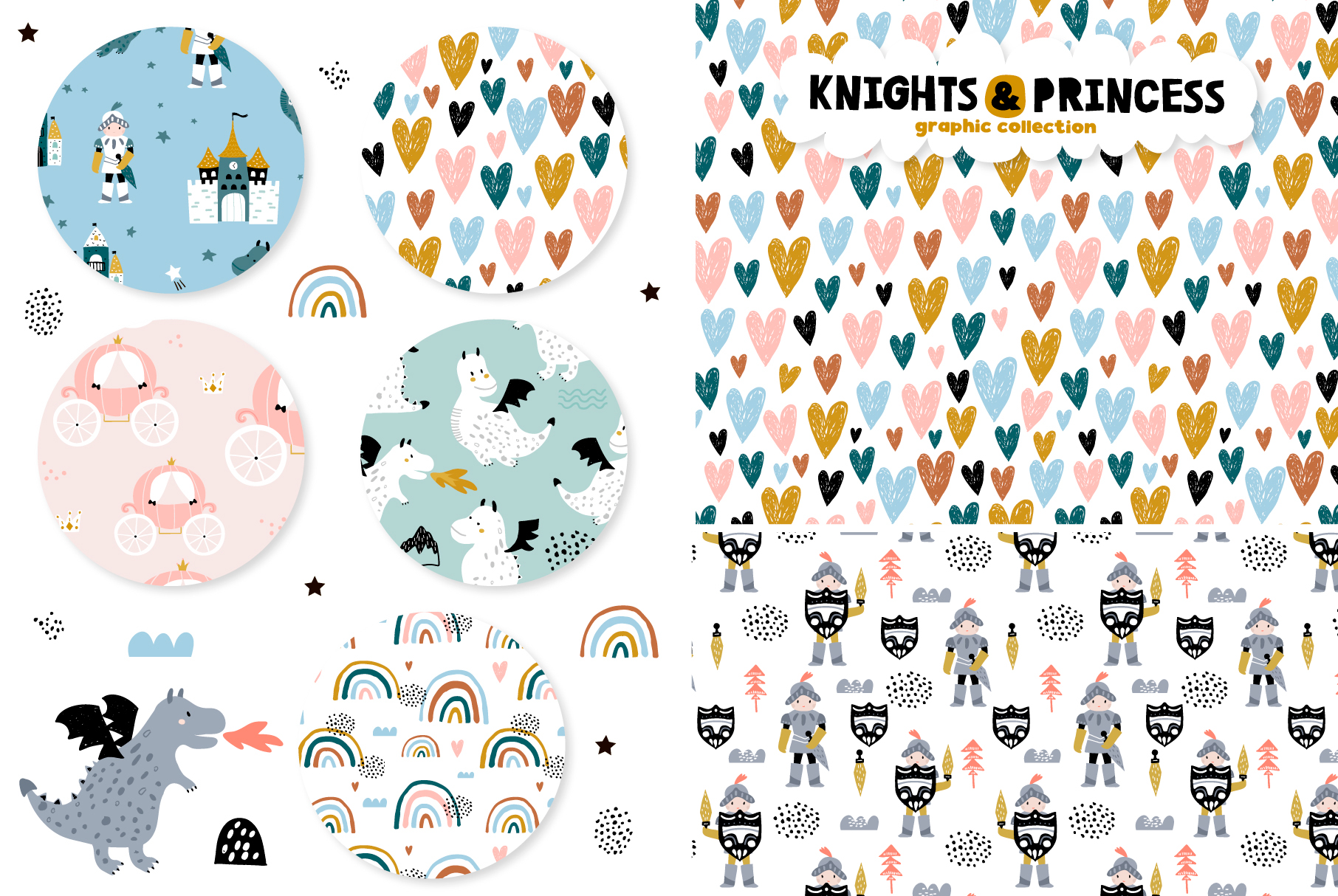 Knights & Princess graphic set example image 3
