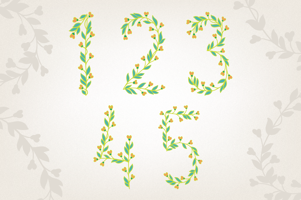 Floral Numbers example image 3
