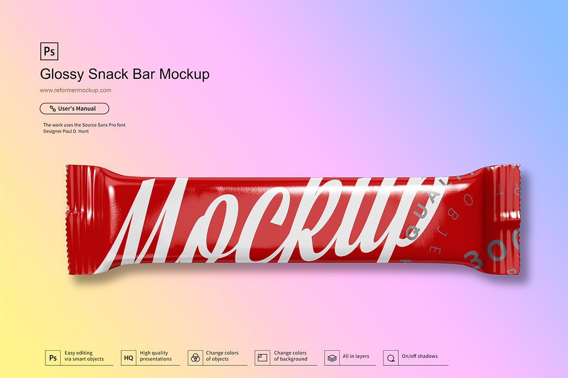 Glossy Snack Bar Mockup example image 8