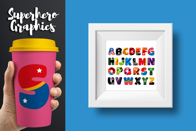 Superhero Alphabet and Punctuation - Graphics Bundle example image 5