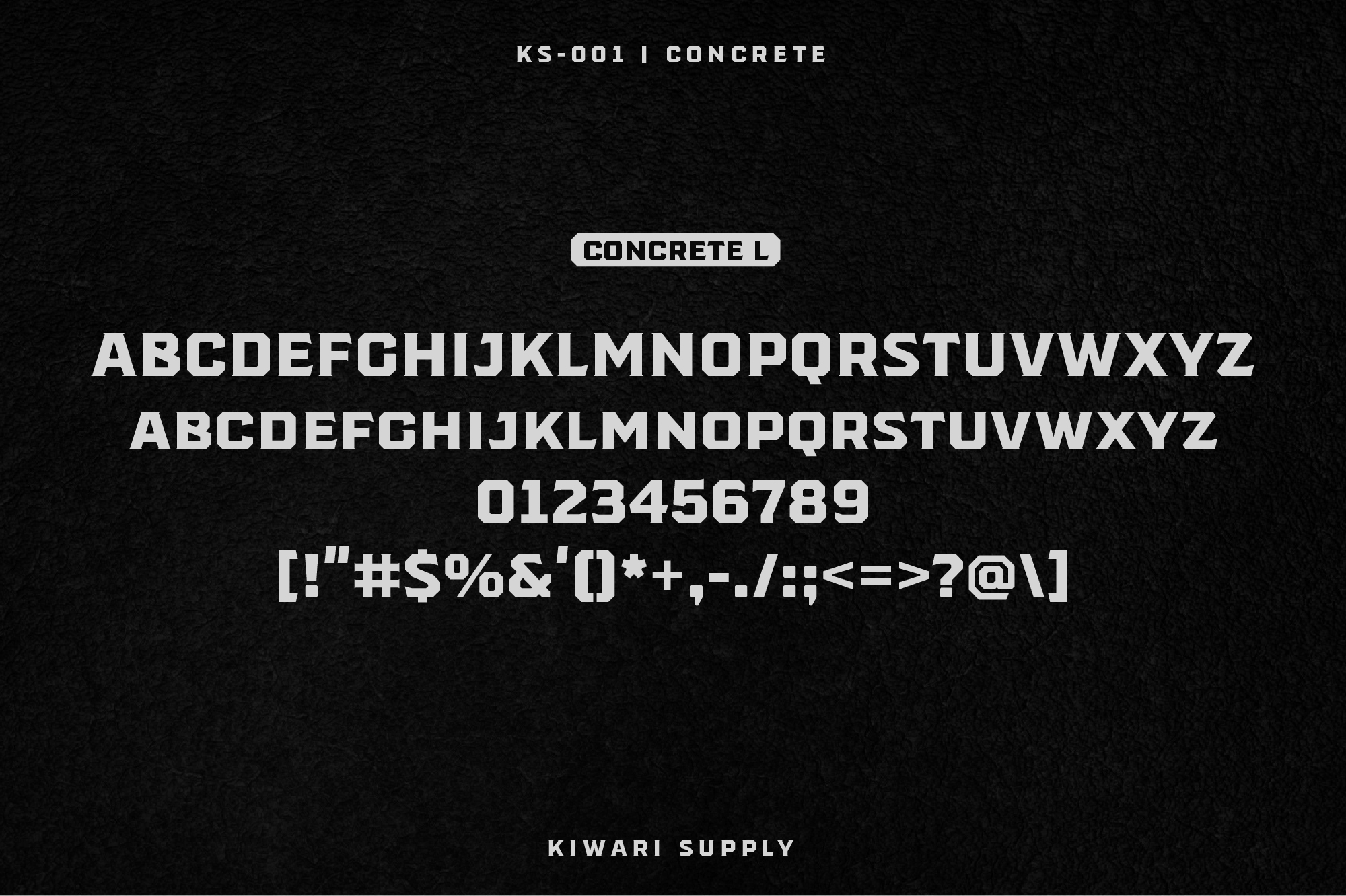 Concrete Display Font Family example image 5