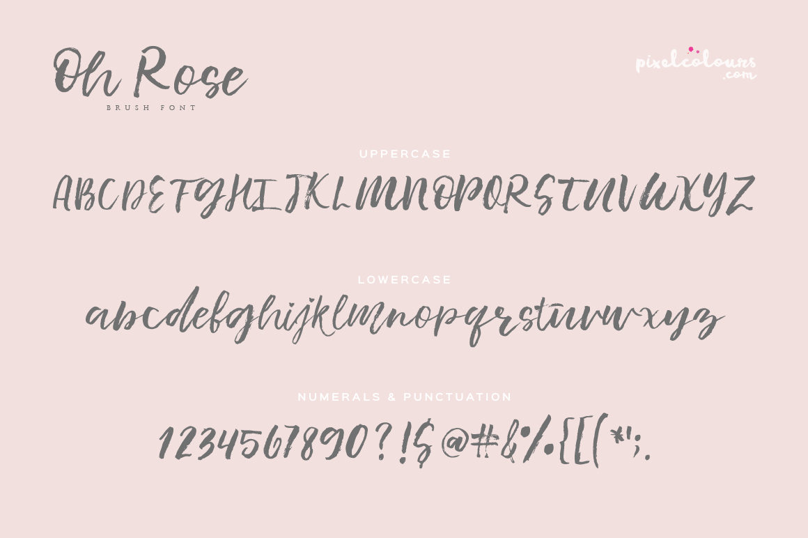 Oh Rose Brush Font example image 4
