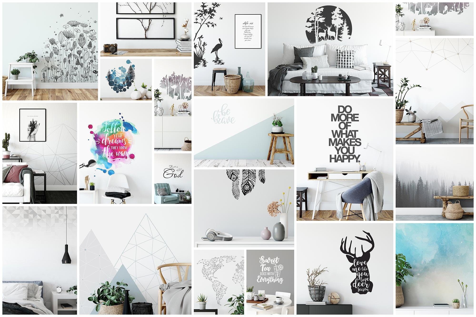Scandinavian Interior Frames & Walls Mockup Bundle example image 2