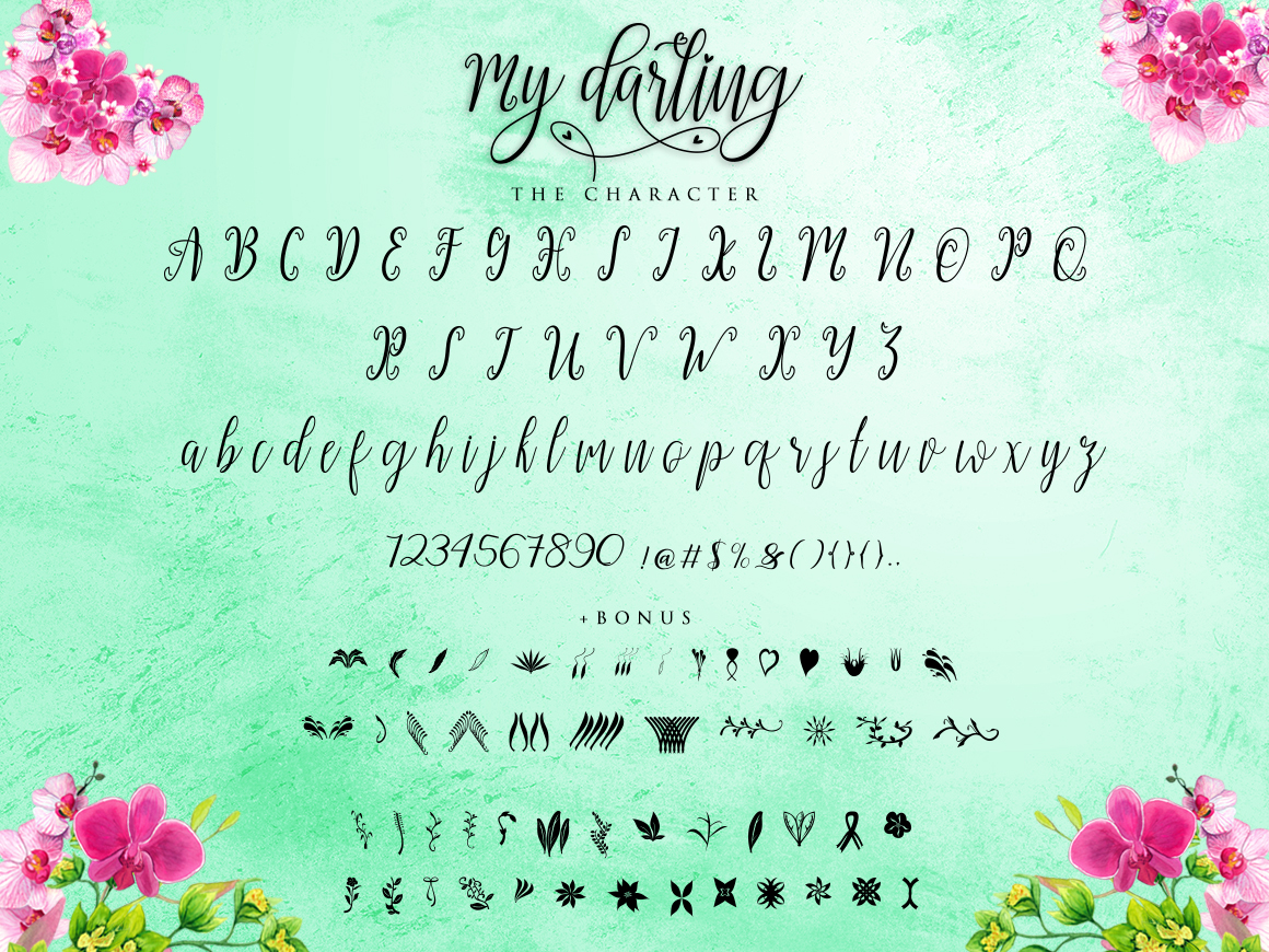 My Darling Script  Bonus example image 6