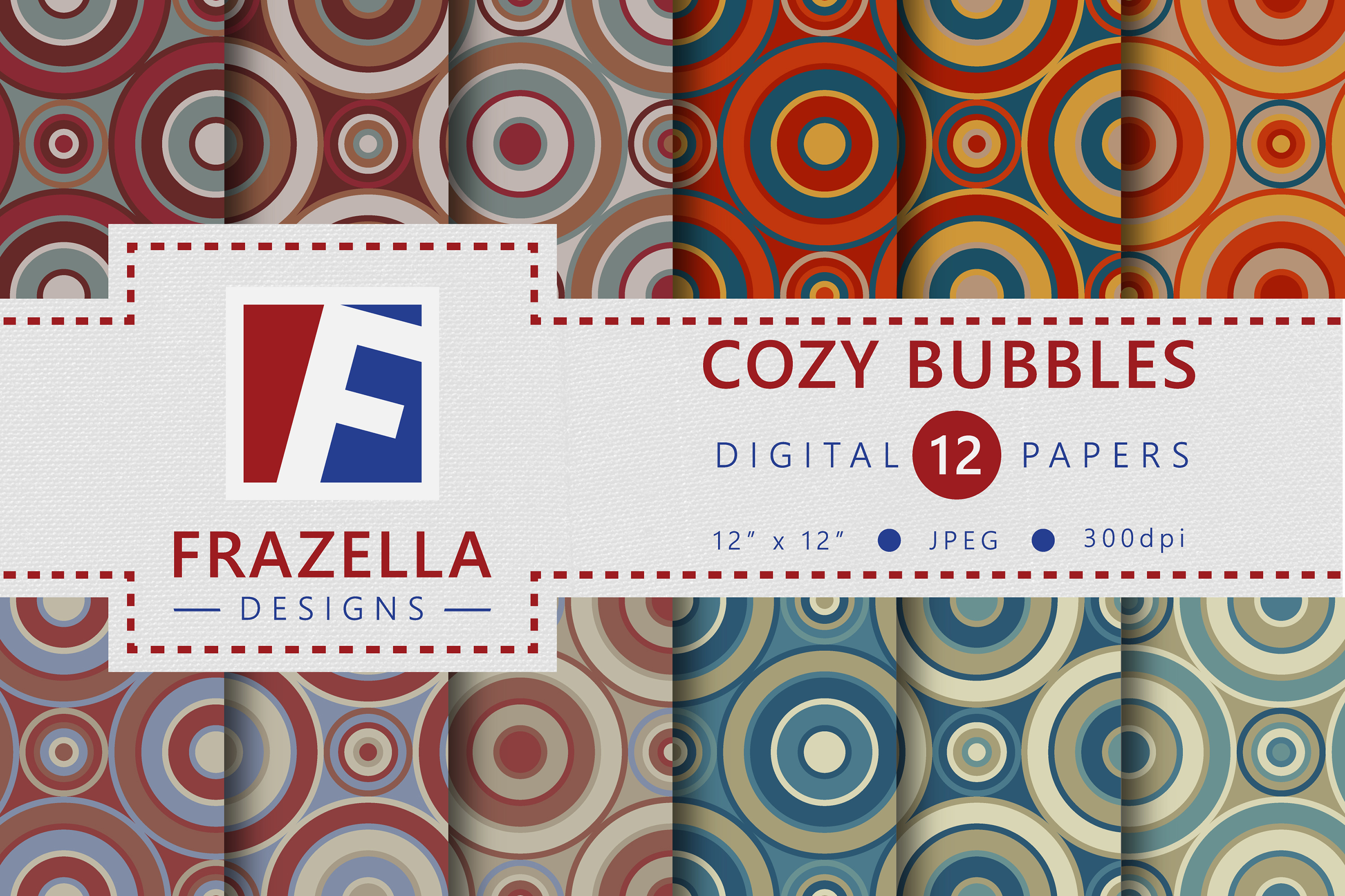 The ULTIMATE Digital Paper Collection Retro Edition Vol. 2. example image 2