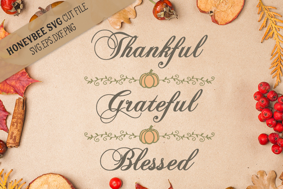 Thankful Grateful Blessed svg example image 1