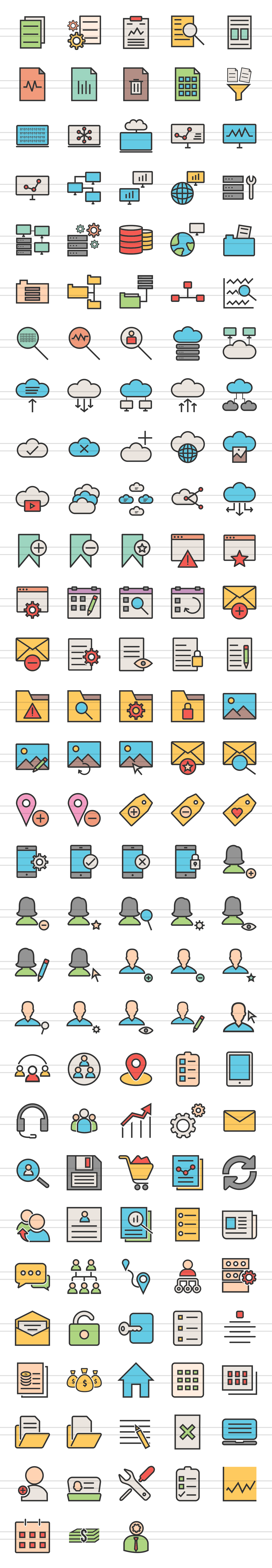 148 Admin Dashboard Filled Line Icons example image 5