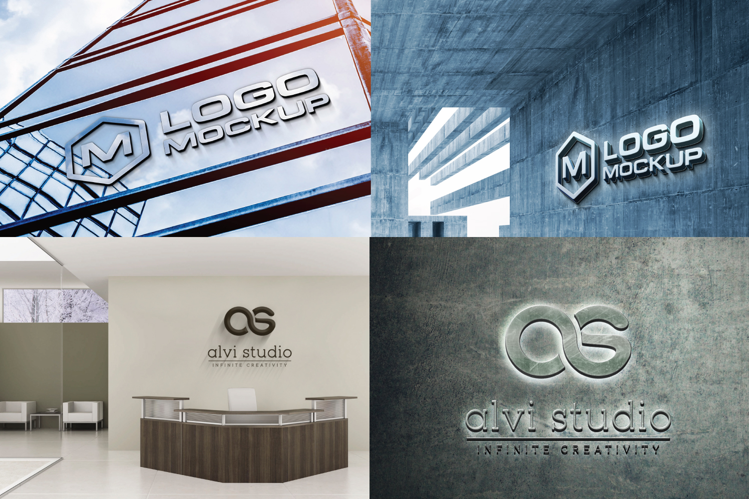 8 3d wall logo mock up example image 2