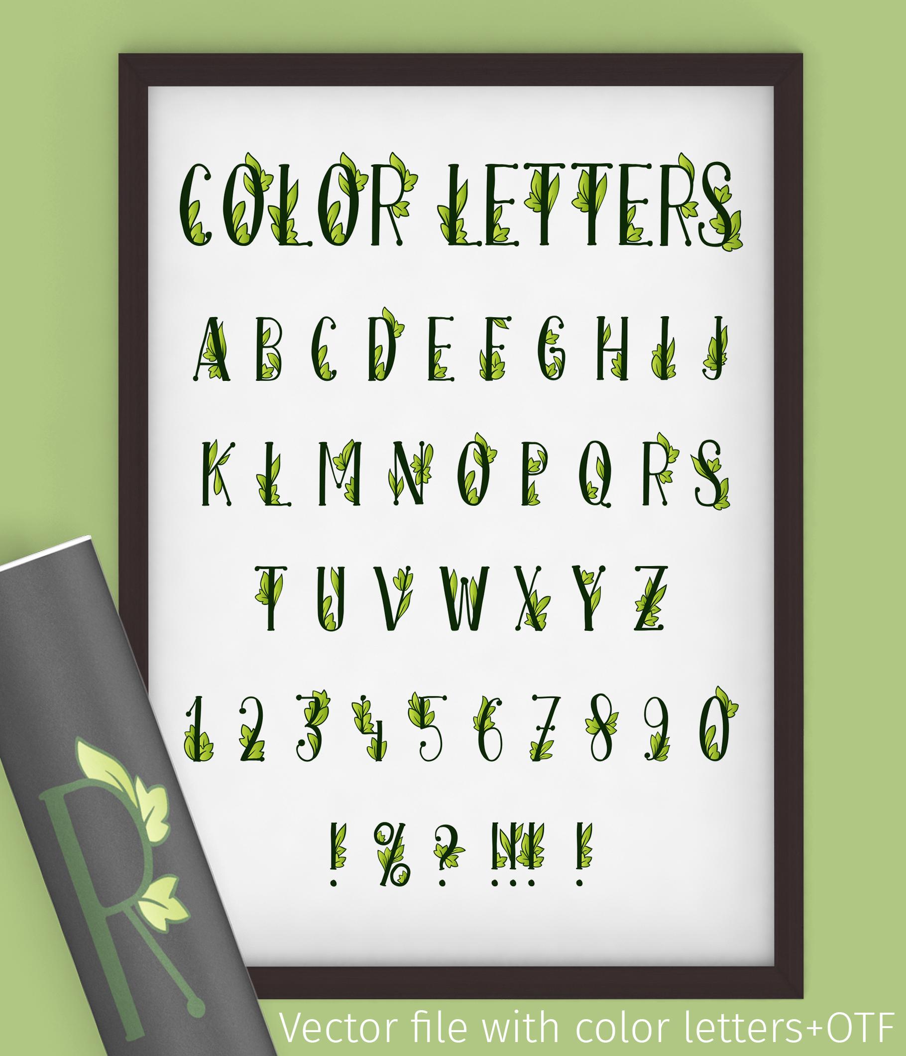 Onferia - decorative leaf font example image 8