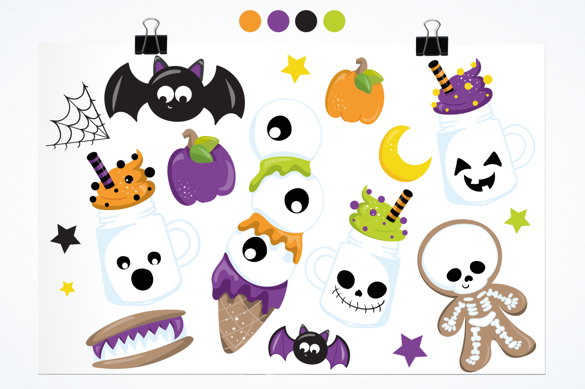 Trick or treat graphic and illustrations example image 2