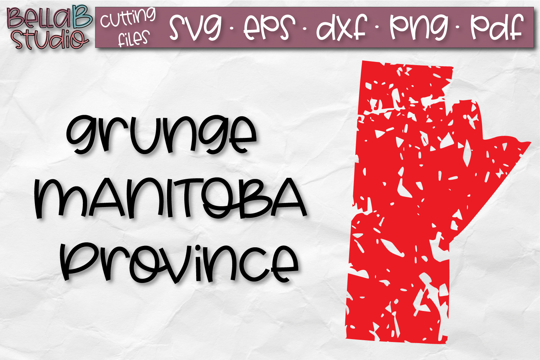 Manitoba SVG, Canada SVG, Canadian SVG, Distressed SVG example image 1