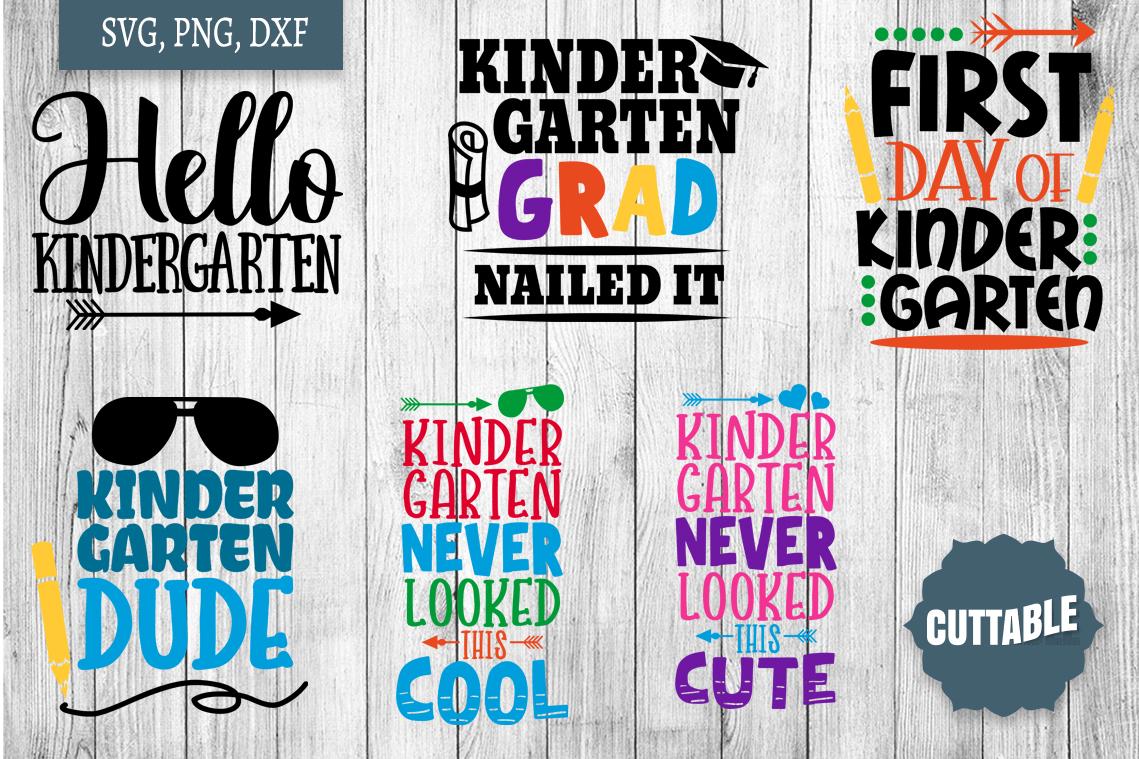 Kindergarten cut file bundle, Kindergarten SVGs cut files example image 3