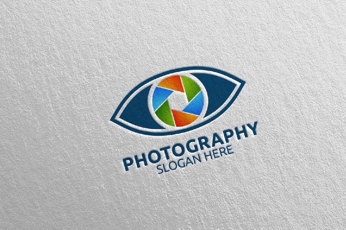 Eyes Camera Photography Logo 14 example image 1