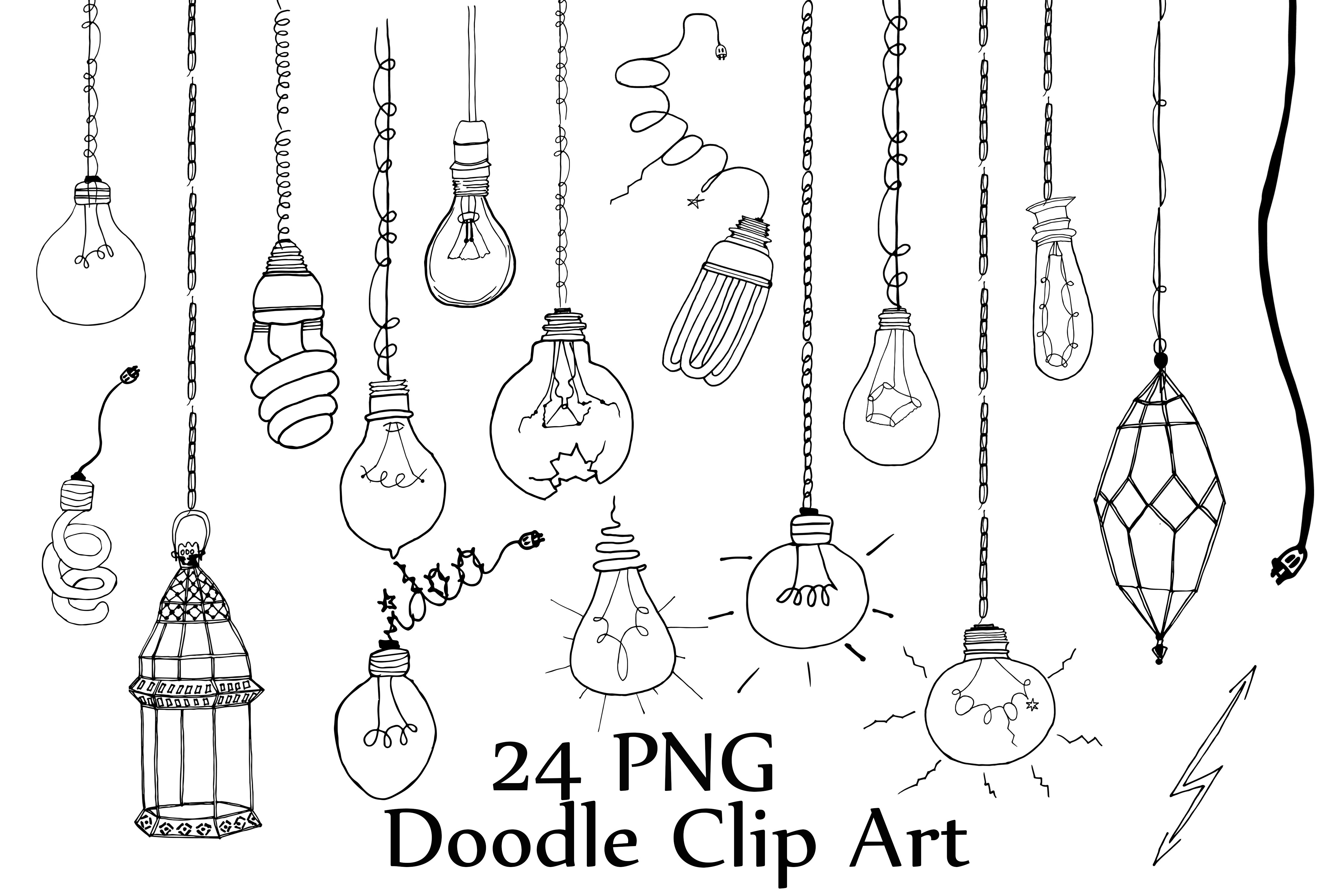 light bulb doodle clipart by chilipapers design bundles rh designbundles net doodle clipart border doodle clipart black and white