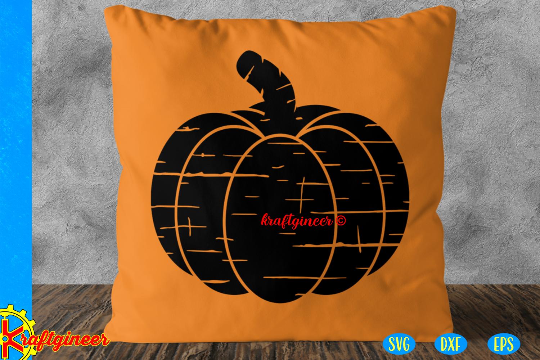 Halloween SVG- Distress Cutest Little Pumpkin CUT FILE, DXF example image 3
