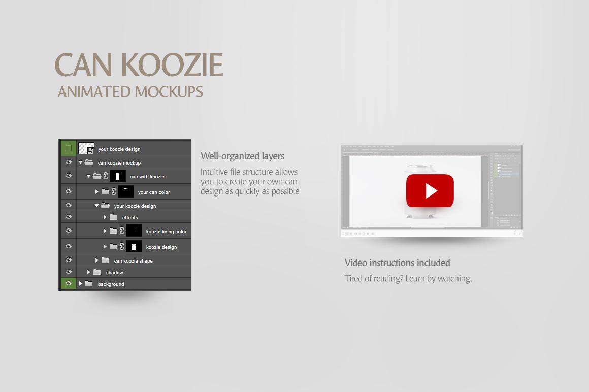 Can Koozie Animated Mockup example image 7
