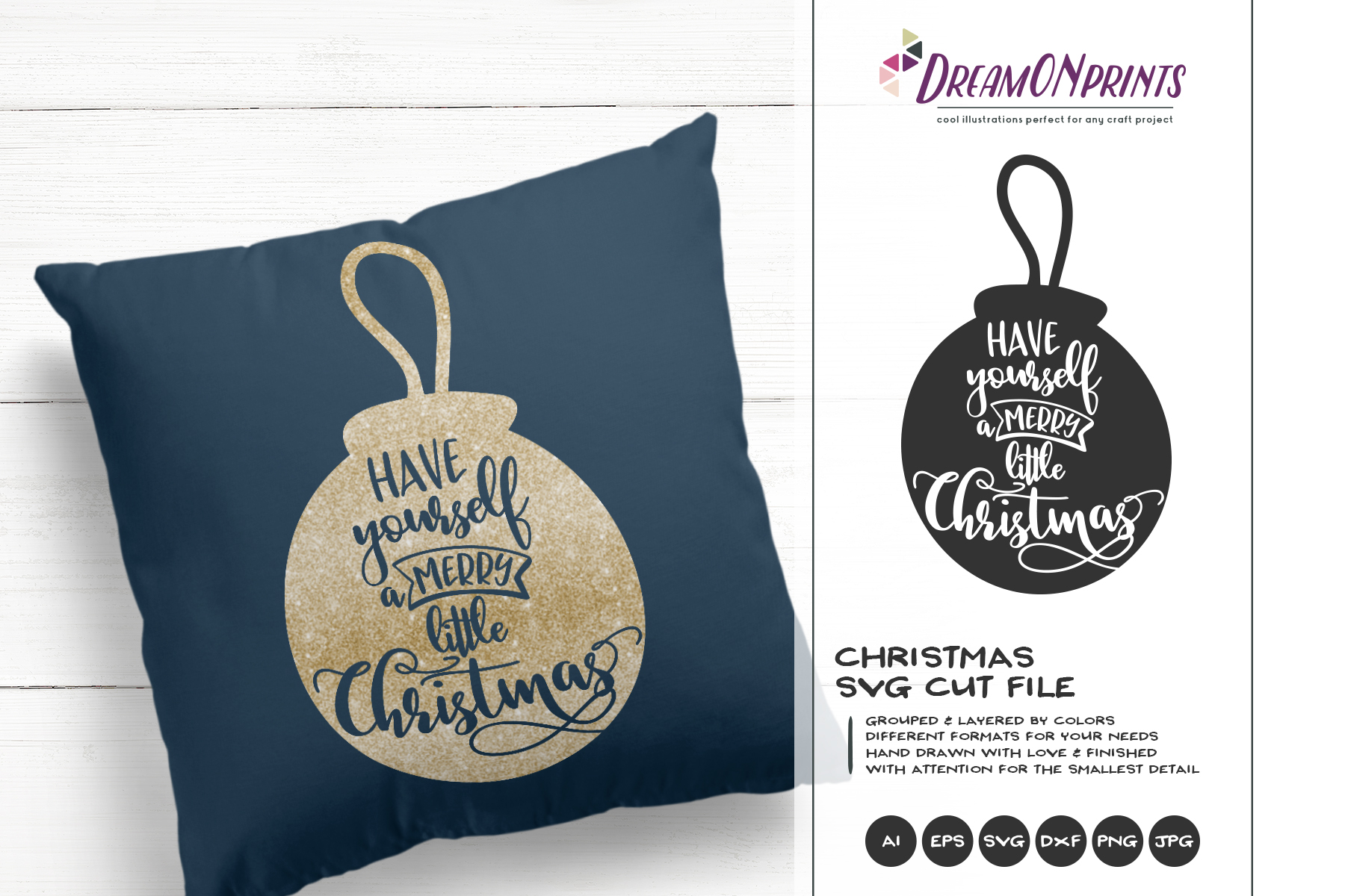 Merry Little Christmas SVG | Christmas SVG Cut Files example image 1
