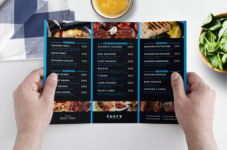 Trifold Restaurant Menu Template (260886) | Brochures ...