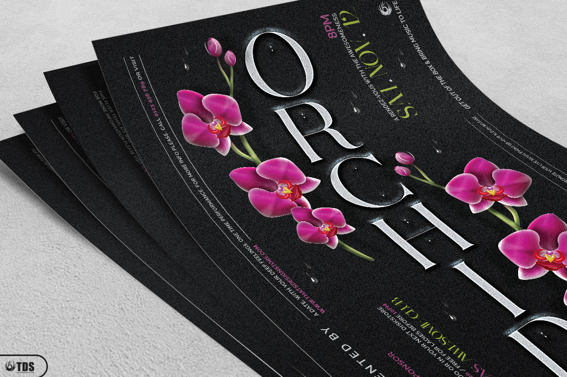 Orchid Flyer Template example image 4