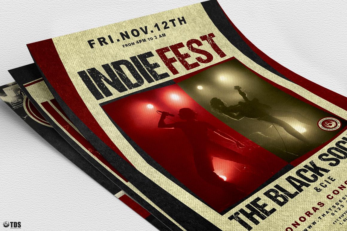Indie Live Festival Flyer Bundle example image 7