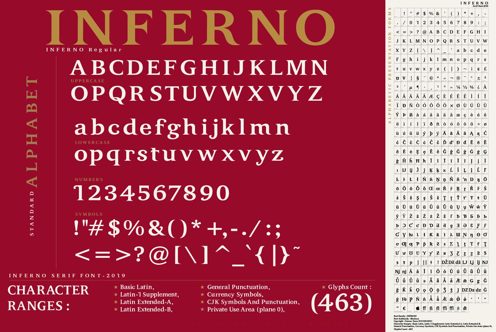 INFERNO Serif font example image 4