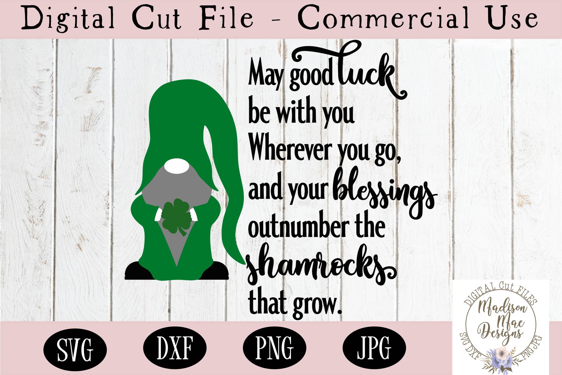 Irish Blessing SVG, Saint Patrick's Day Gnome SVG example image 2