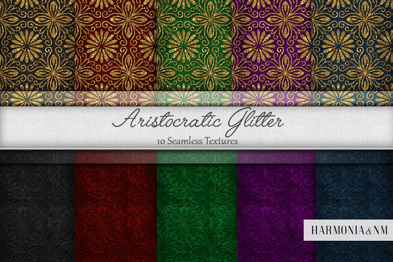 Aristocratic Glitter 10 Seamless Velvet Textures example image 1