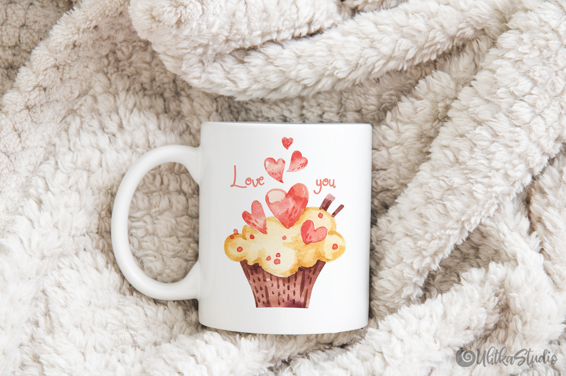 Cozy Valentines Day. Lovely bears watercolor collection example image 15